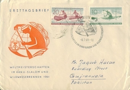 D169- Postly Used FDC Of Germany To Pakistan. Sports. - Germany