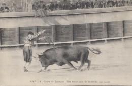 Corrida - Tauromachie - Course De Taureau - Nîmes 1919 - Militaria Régiment Roumanie - Corrida