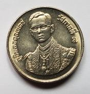 PIECE - THAILANDE -  2 Baht (anniversaire Du Roi) 2530 (1987) Commémorative : 60° Anniversaire Du Roi (5 Décembre) - Thailand