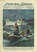 """1941 - N° 8 - COPERTINA ORIGINALE - """"LA DOMENICA DEL CORRIERE"""" - AVIATORI TEDESCHI SALVATI DA NAVE OSPEDALE ITALIANA - War 1939-45"""