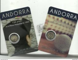 ANDORRA EUROS 2016. 1 MONEDA DE 2,00€ C. 150 ANYS NOVA REFORMA + 1 MONEDA C. 2,00€ 25È RADIO I TELEVISIO D'AND - Andorra