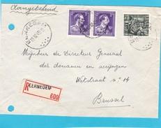 N° 693 + Exportation / Enveloppe En Recommandé De EERNEGEM - 1934-1935 Léopold III