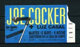 Entrada - JOE COCKER (año 1988) - Entradas A Conciertos