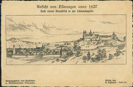 AK Ellwangen Jagst, Ansicht Anno 1627 Nach Einem Wandbild In Der Schlosskapelle, Um 1900 (18407) - Ellwangen