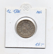 Italia - 1886 - Umberto I° - 1 Lira - Stemma -  Argento 835 - Peso 5 Grammi - (MW61) - 1861-1946 : Regno