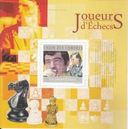 Comores  2010  Chess   Players  VladimirKramnik & Anatoli Karpov  MNH  M/S  #  93355 - Chess