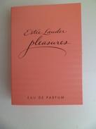 Tigette Ou  Tube De Parfum Echantillon 1,3 Ml Eau De Parfum PLEASURES De ESTEE LAUDER - Miniatures Modernes (à Partir De 1961)