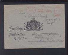 Dt. Reich Brief Hamburg Freistempel Gemeindeverwaltung 1943 - Deutschland