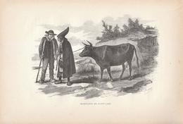 Vers 1890 - Gravure Sur Bois - Saint-Cast-le-Guildo (Côtes-d'Armor) - Costumes Des Habitants - FRANCO DE PORT - Prenten & Gravure