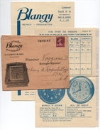 1936 - ENVELOPPE COMMERCIALE (+ CORRESPONDANCE) De SAINT LAURENT BLANGY (PAS DE CALAIS) Avec PREOBLITERE - HORLOGERIE - Storia Postale