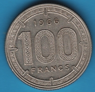 ETATS DE L'AFRIQUE EQUATORIALE 100 FRANCS 1966 KM# 5 ANIMAL - Other - Africa
