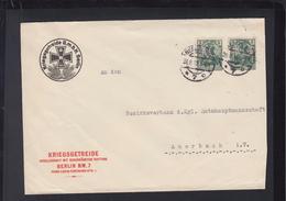 Dt. Reich Brief 1915 Kriegsgetreide GmbH Berlin Lochungen Perfins - Germany