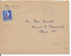 REUNION - 1958 - PETIT BUREAU DE DISTRIBUTION - LETTRE De BOIS DE NEFLES - ST PAUL => PARIS - Réunion (1852-1975)