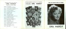 CELEBRITES - LINA MARGY - Dépliant 3 Volets - Programmes