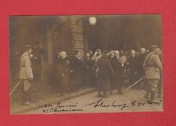 Strasbourg  --  Carte Photo  --  Visite De Mr Poincaré Et Clemenceau - Strasbourg