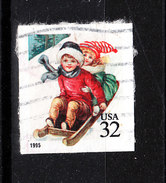 U.s.a.   -  1995.  Bimbi In Slittino. Children In Toboggan. - Giochi