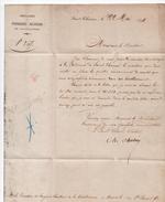 1874 - LETTRE PRE IMPRIMEE De La POUDRERIE MILITAIRE De SAINT CHAMAS (BOUCHES DU RHONE) + CACHET AU DOS - 1849-1876: Période Classique