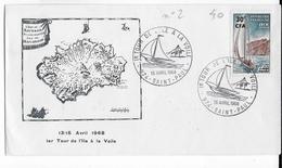 REUNION - 1968 - CACHET COMMEMORATIF ILLUSTRE - ENVELOPPE De ST PAUL  - VOILE - Reunion Island (1852-1975)