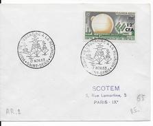 REUNION - 1963 - NAVALE -  CACHET COMMEMORATIF ILLUSTRE - ENVELOPPE De ST DENIS  - VISITE DE L'ESCADRE - Reunion Island (1852-1975)