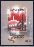 HUNGARY 1985 Liberation Anniversary Imperforate Block MNH / **.  Michel Block 177B - Blocks & Sheetlets