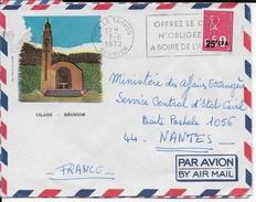REUNION - 1972 - OBLITERATION MECANIQUE - ENVELOPPE Par AVION De LE TAMPON => NANTES - ALCOOL - Reunion Island (1852-1975)