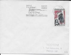 REUNION - 1965 - OBLITERATION MECANIQUE - ENVELOPPE De ST PAUL => PARIS - TRICENTENAIRE - Reunion Island (1852-1975)