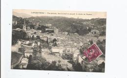 LARGENTIERE (ARDECHE) VUE GENERALE DANS LE FOND ON APERCOIT LE CLOCHER DE CHASSIERS 1934 - Largentiere