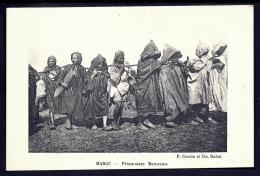 CPA ANCIENNE-MAROC- PRISONNIERS MAROCAINS MARCHANT ENCHAINÉS- TRES GROS PLAN - Non Classés