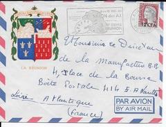 REUNION - 1964 - OBLITERATION MECANIQUE - ENVELOPPE Par AVION De ST DENIS => NANTES - SALON DES AI - Reunion Island (1852-1975)