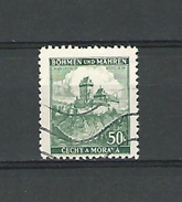1939 / 1940 N° 26 BÖHMEN  CHÂTEAU DE KARLUV TYN  50 H  OBLITÉRÉ - Bohemia & Moravia