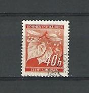 1940 / 1941 N° 42 BÖHMEN  TILLEULS 40 H  OBLITÉRÉ - Bohemia & Moravia