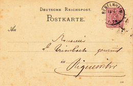 EP Michel P 12/02 B Obl BEBELNHEIM Du 12.4.87 Adressée à Riquewihr - Alsace-Lorraine