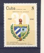 CUBA 1989 POLICE  YVERT N°2926  NEUF MNH** - Police - Gendarmerie