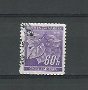 1940 / 1941 N° 44 BÖHMEN  60 H TILLEULS  OBLITÉRÉ - Bohemia & Moravia