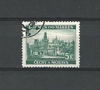 1939 / 1940 N° 35 BÖHMEN  PONT DE CHARLES A PRAGUE 5 K   OBLITÉRÉ - Bohemia & Moravia