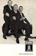 Photo Publicitaire Dédicacée De Das Eilemann-Trio - Autogramm Odeon Karte - EMI Odéon O23887 & SMO 74479 Allemagne 1960 - Autographes
