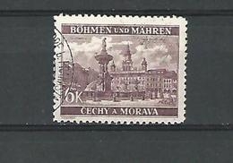1940 / 1941 N° 57 BÖHMEN  HOTEL DE VILLE CESKE BUDEJOVICE  6 K  OBLITÉRÉ - Bohemia & Moravia