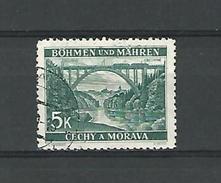 1940 / 1941 N° 56 BÖHMEN  BECHING 5 K  OBLITÉRÉ DOS CHARNIÈRE - Bohemia & Moravia