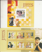 Republique De Guinee   2009  Chess  Champions  Viswanathan Anand Of India  &  Other Players  2  MNH Sheets  # 93326 - Chess