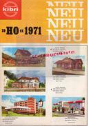 CATALOGUE KIBRI - HO 1971- NEU- TRAINS CHEMIN DE FER GARE- DETTINGEN-MAIENFELD-KEHL-ALTBURG-STATION SERVICE GARAGE- - Railway & Tramway