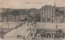 CPA AK Montlucon Rue République Ville Gozet Cafe Pont A Désertines Lavault Sainte Anne Domérat Saint Victor Commentry - Montlucon