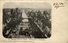 LAMAHA SERVICE CANAL GEORGETOWN DEMERARA  1905         BRITISH GUIANA GUYANE BRITANNIQUE  GUAYANA - Postales