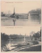 La Seine Pittoresque. 4 CPA. Hauteurs De Saint Cloud., Seine à Boulogne. Pont De Puteaux. Pont De Suresnes - France
