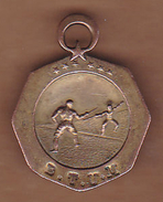 AC - FENCING MEDAL  1930s GENERAL DIRECTORATE OF YOUTH AND SPORTS TURKEY - Escrime