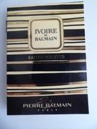 Tigette Ou  Tube De Parfum Echantillon 2 Ml  Eau De Toilette Ivoire De BALMAIN - Miniatures Modernes (à Partir De 1961)