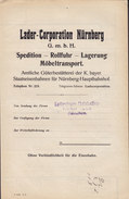 Koenigl. Bayer Staatseisenbahnen Frachtbrief LADER-CORP. Marlzkaffee NÜRNBERG Rang.bhf. 1910 PEGNITZ (3 Scans) - Historische Dokumente