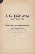 Koenigl. Bayer Staatseisenbahnen Frachtbrief J. S. BÖHMER, BAYREUTH 1905 PEGNITZ (3 Scans) - Historische Dokumente