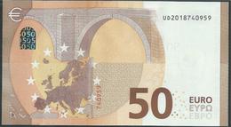 50 EURO FRANCE  UD  U002  - DRAGHI   UNC - EURO