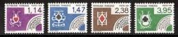 1984 - Préoblitérés N° 182 à 185 - Neufs ** - Cartes à Jouer - 1964-1988