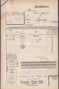 Koenigl. Bayer Staatseisenbahnen Frachtbrief FRIEDR. CARL OTT Kiste Wein WÜRZBURG 1905 PEGNITZ (2 Scans) - Historische Dokumente